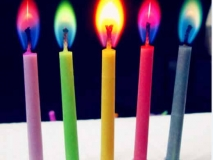 Magic Colorful flame birthday candle