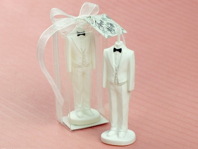 European Groom Wedding Candle