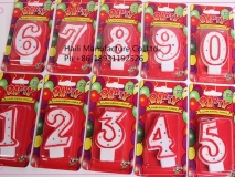Fancy number shape birthday candle